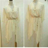 Used Blouse Fashion- Biege Color Loose Fit Free Size Never Worn Very Nice Fitting  in Dubai, UAE