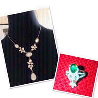 Used Set of Necklace w/ Ring ❤️ in Dubai, UAE