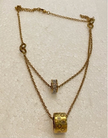 Used Louis Vuitton double necklace gold  in Dubai, UAE