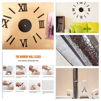 Used Wall clock & silver self-adhesive roll in Dubai, UAE