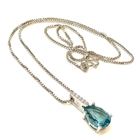 Used 925 Sterling Silver Blue Topaz necklace  in Dubai, UAE