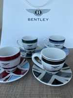 Used Bentley espresso cups&saucers 4x set in Dubai, UAE