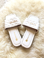 Used White fashion slippers size 36 in Dubai, UAE