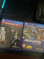 Used 2 PS4 video games: uncharted, last of us in Dubai, UAE