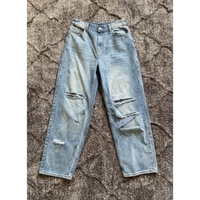 Used Ripped jeans flare\wide leg in Dubai, UAE