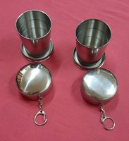 Used Stainless steel collapsible 2 cups ! in Dubai, UAE