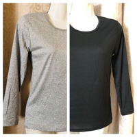 Used 2 T-shirt size M black & grey in Dubai, UAE