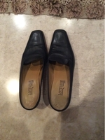 Used Leather slippers. Size 38  in Dubai, UAE