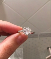 Used Engagement ring silver heart in Dubai, UAE