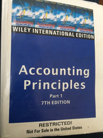 Used accounting principles, wiley edition in Dubai, UAE