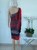 Used Dress Tiger print stretch size Small  in Dubai, UAE