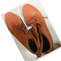 Used Men brown med cut shoes size 41 ❤️ in Dubai, UAE