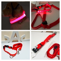 Used 2 Dogs collar & leash M with LED lights  in Dubai, UAE