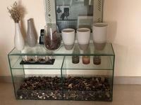 Used Glass table with all showpiece  in Dubai, UAE