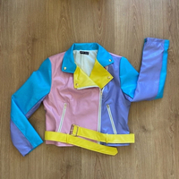 Used colorful leather jacket (new) in Dubai, UAE