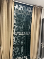 Used Curtain golden brown with butterfly  in Dubai, UAE