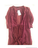 Used New Maroon Long Lace Cardigan  in Dubai, UAE