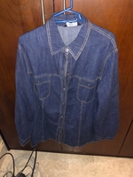 Used Denim shirt/ jacket. Large  in Dubai, UAE