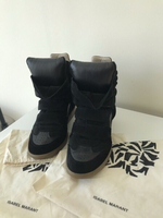 Used Isabel Marant black sneakers hidden heel in Dubai, UAE