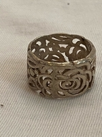 Used Silver roses band ring  in Dubai, UAE