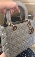 Used Lady Dior Light Gray with Champagne Gold in Dubai, UAE