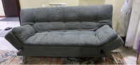 Used Gray Sofa-bed can be folded easily in Dubai, UAE