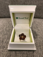 Used Silver gold plated rose ring size 17 in Dubai, UAE