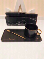 Used Cup & spoon fine ceramic gift set ✨ in Dubai, UAE