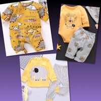 Used Yellow Baby Suits by Patpat/ 3-6 mos in Dubai, UAE