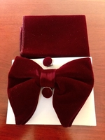 Used Burgundy Red Velvet bow tie in Dubai, UAE