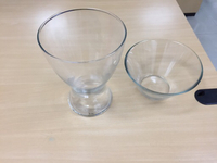 Used 2 Glass vase  in Dubai, UAE