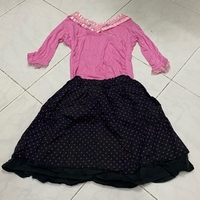 Used black and pink top and skirt for girls in Dubai, UAE