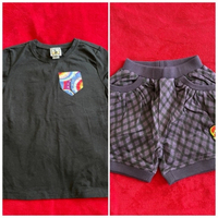 Used Tee and shorts for girls size 5-6y in Dubai, UAE
