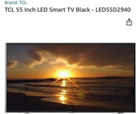 Used TCL smart TV 55 inch LED in Dubai, UAE