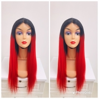 Used 24inches red and black hair blend in Dubai, UAE