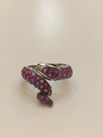 Used 925 Sterling silver ruby ring size 6 in Dubai, UAE