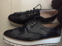 Used faux leather shoes, 38 (women) in Dubai, UAE