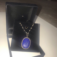 Used Silver, Diamond and Lapis Necklace in Dubai, UAE
