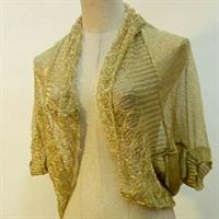 Used Cardigan Golden Colors Transparent Free Size Never Worn Very Nice Fitting  in Dubai, UAE