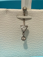 Used Silver 925 (stamp) belly button piercing in Dubai, UAE