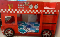 Used Red bunk bed for kids with little crack in Dubai, UAE