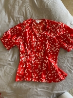 Used Topshop blouse red and white  in Dubai, UAE