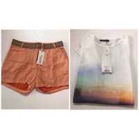 Used Shorts and T-shirt for women size 36 in Dubai, UAE