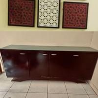 Used Buffet table with smoked glass  in Dubai, UAE