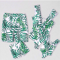 Used Bundle Green leaf family swimsuits  in Dubai, UAE