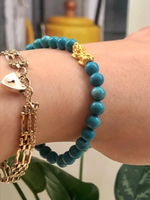 Used Real gold 24k and authentic turquoise  in Dubai, UAE