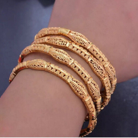 Used Bangles Bracelet Gold Plated 4pcs  in Dubai, UAE