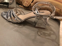 Used Sandals size 39. Thick heel  in Dubai, UAE