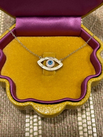 Used Eye 👁 necklace in 925s gold plated  in Dubai, UAE