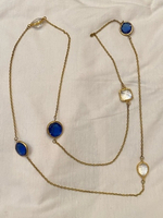 Used Long bronze necklace frm Turkey crystals in Dubai, UAE
